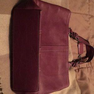 Coach Bags - Purplish/Burgundy Coach handbag